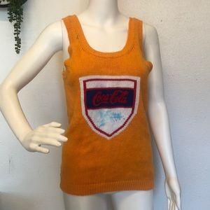 VINTAGE Coca-Cola knit vest